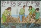 NZ SG1249a-51 Children playing by the Sea health set of 3 including pair